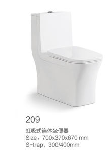 209 Siphonic One-Piece Toilet New Model pictures & photos