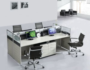 Simple Design Wooden Table Computer Workstation Cubicle Office Partition pictures & photos