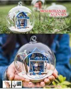 with Light DIY Glass Ball Dollhouse Miniature Wholesale pictures & photos