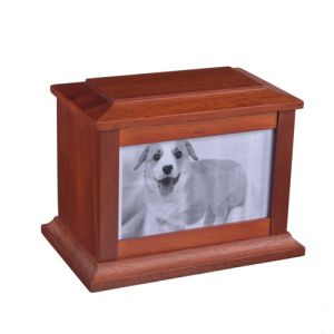 Custom-Made Animal High-Grade Solid Wood Coffin Box
