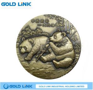 Antique Brass Coin Engraving Panda Challenge Coin Token Souvenir Craft pictures & photos
