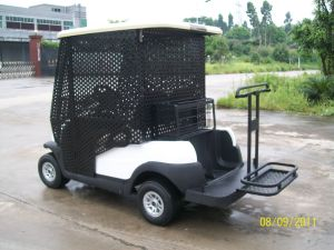 Electric 2 Seaters Pick-up Ball Golf Cart pictures & photos