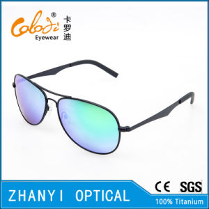 New Arrival Titanium Sunglass for Driving with Polaroid Lense (T3026-C6)
