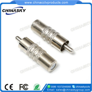 CCTV Zinc Alloy Male RCA to Female F Connector (CT5030) pictures & photos
