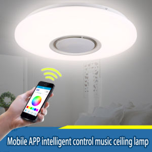24W LED RGB Music Ceiling Light Shade Lamp Bluetooth Speaker APP Remote Control pictures & photos