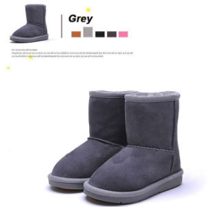 Genuine Leather Warm Winter Snow Kids Shoes pictures & photos