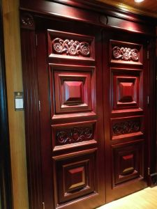 China Luxury Double Main Wood Door for Villa pictures & photos