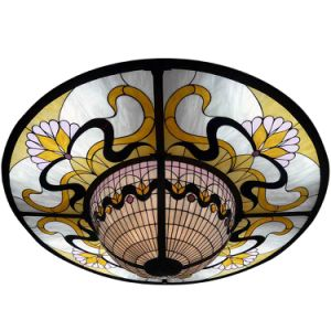China Manufacturer Home Building Suspended Stained Glass Panels ceiling pictures & photos