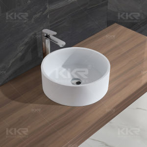 Wholesale Solid Surface Bathroom Wash Basin and Bathroom Vanity pictures & photos