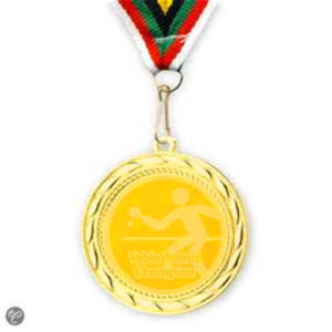 Table Tennis Gold Souvenir Medal with Ribbon pictures & photos