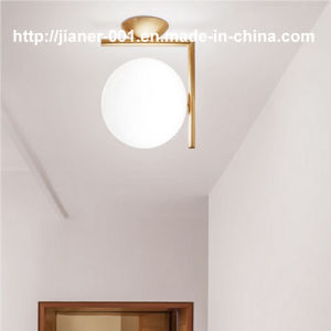 Simple But Fashion Bedroom Modern Glass LED Ceiling Lamp Light in Gold Color pictures & photos