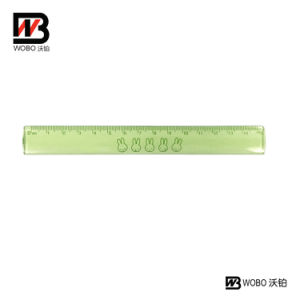 Color Flat Plastic Ruler for Office and School Stationery