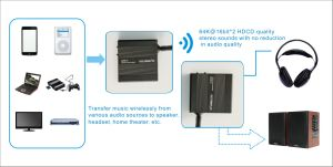 Tp-Wireless 2.4GHz Digital Wireless HDCD Audio Adapter Music Sound Transmitter and Receiver pictures & photos