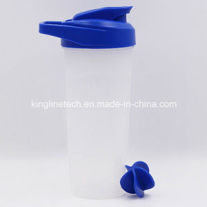 700ml New Design Plastic Protein Shaker Bottle with Blender Mixer Ball (KL-7056) pictures & photos