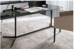 Tempered Glass +Iron Leg Executive Office&Writing Table (WD008) pictures & photos