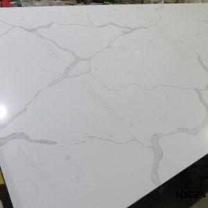 Kkr Texture Marble Artificial Carrara Quartz Stone for Kitchen Countertop pictures & photos