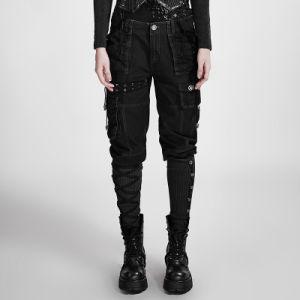 K-256 Punk Winter Colorfull Casual Capri Pants Loose Linen Wide Leg Pants pictures & photos