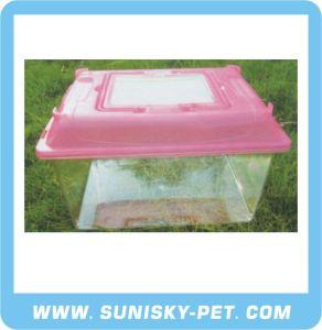 Square Shape Transparent Plastic Pet Carrier (SFT-330C) pictures & photos