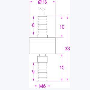 10kg 20kg 50kg 100kg Inline Load Cell Tension Compression pictures & photos
