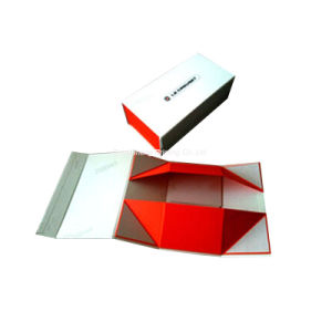 Delicate&Elegant Paper Magnetic Closure Shoes Folding Boxes pictures & photos
