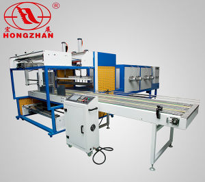 Full Automatic Sealing Heat Shrinking Machine with Sleeve L Bar Cut Seal for PE PVC POF Panel Cigarette Ceramic Big Thing Object pictures & photos
