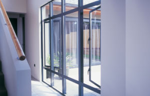 Grey Gross Surface Double Glass Aluminium Glass Windows pictures & photos