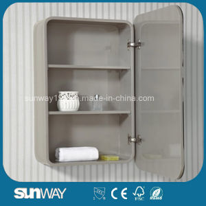Hot Sell High Gloss MDF Bathroom Cabinet with Mirror pictures & photos