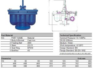 Ductile Iron Double Function Air Valve pictures & photos