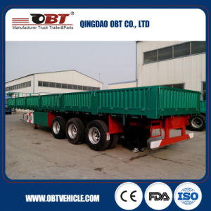 Chinese 60ton Tri-Axles Cargo Sidewall Semi Trailer pictures & photos