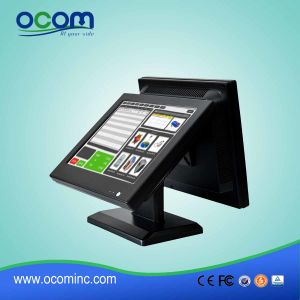 "(POS8815D) 15"" Dual Screen Touch Screen All in One PC Cash Register pictures & photos"
