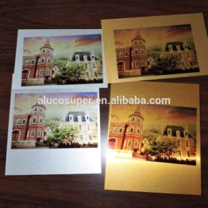 Golden or Silver Brushed Blank Sublimation Aluminum Sheet pictures & photos