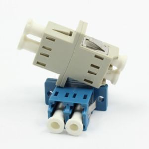 LC Duplex Sc Type Fiber Optical Adapter with Flange pictures & photos