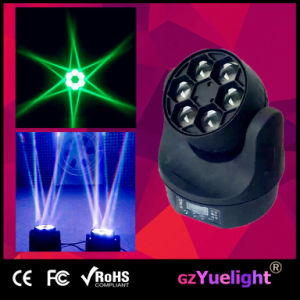 LED 6PCS 15W RGBW 4in1 Bee Eye Beam Wash Mini Moving Head Light LED Moving Head pictures & photos