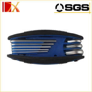 Hand Tool Double Blister Pack Black Oxide Finish Carbon Steel Material Folding Torx Key Allen Wrench Set pictures & photos