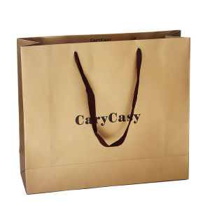 Leatherette Paper Bag / Embossed Coated Paper Bag / Shipping Bag / Gift Bags pictures & photos