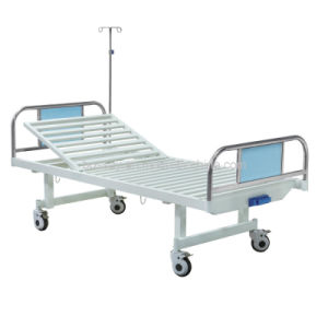 Hospital Manual Crank ICU Ward Patient Bed Furniture Equipment pictures & photos