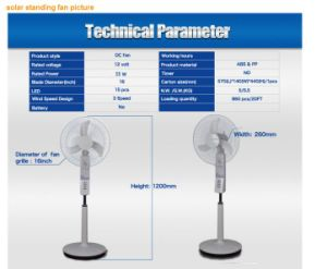 """Energy Saving 12V 16"""" Solar Standing Fan pictures & photos"""