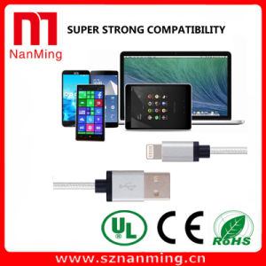 USB Cable Nylon Braid Cable for Dock Charging Station Cable for Apple iPhone ---Silver pictures & photos