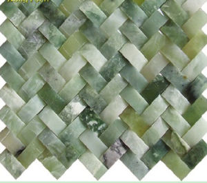 Green Jade Marble Mosaic Tiles pictures & photos