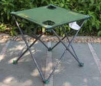 Simple Folding Camping Table with Cup Holder, 600d Oxford Portable Picnic Table