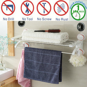 Bath and Shower Air Suction Cup Towel Rack Bar Holder