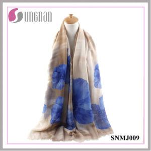 2016 Multicolor Elegance Shawl Begonia Print Satin Cotton Scarf pictures & photos