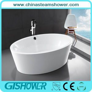 Oval Acrylic Resin Freestanding Soaking Tub (KF-728)