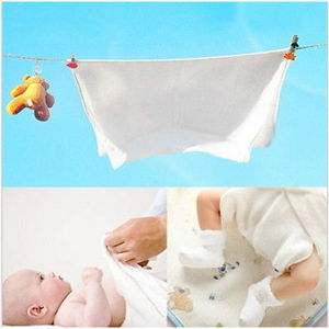 High Quality 100%Cotton Baby White Flat Cloth Diapers pictures & photos