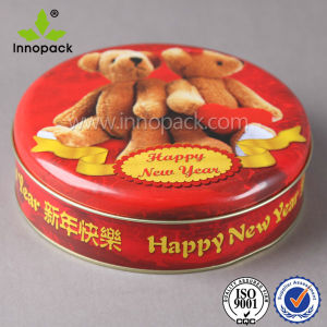 4L Embossed Printed Food Grade Candy Cookie Custom Metal Box pictures & photos