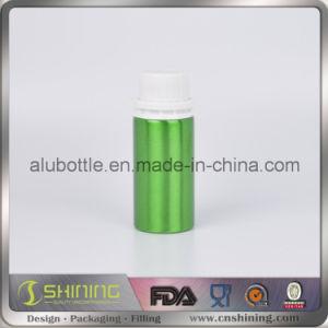 Aluminum Essential Oil Bottle with White Tamper Evident Cap