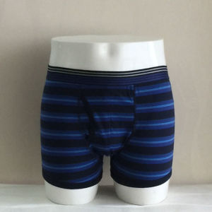 Yard Dyeing Striped Nylon Silk Belt Fashion Men Boxer Brief pictures & photos