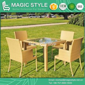 Rattan Dining Set Outdoor Wicker Dining Chair Patio Dining Chair (Magic Style) pictures & photos