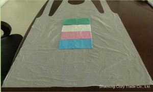 Thickening Medical PE Disposable Apron pictures & photos