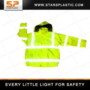 RV-A73-560 Workwear Work Jacket Fluorescent Yellow Waterproof Raincoat Reflective Safety Vest pictures & photos